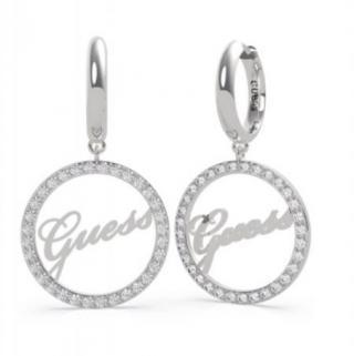 Guess Luxusné oceľové náušnice kruhy All Around You UBE20143 dámské