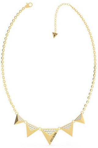 Guess Moderné pozlátený dámsky náhrdelník s príveskami UBN70060