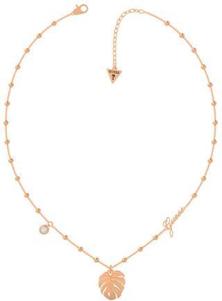 Guess Módne bronzový náhrdelník Tropical Summer UBN70107