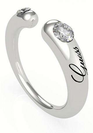Guess Módne otvorený prsteň s kryštálmi UBR79060 52 mm dámské