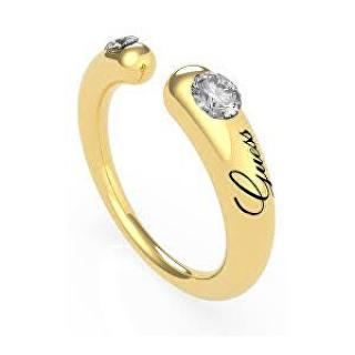 Guess Módne pozlátený otvorený prsteň s kryštálmi UBR79061 52 mm dámské