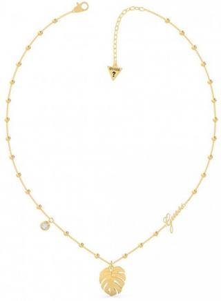 Guess Módny pozlátený náhrdelník Tropical Summer UBN70106