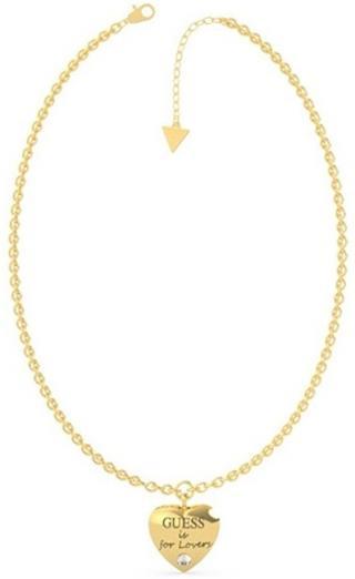 Guess Pozlátený náhrdelník s príveskom srdca Guess is for Lovers UBN70026
