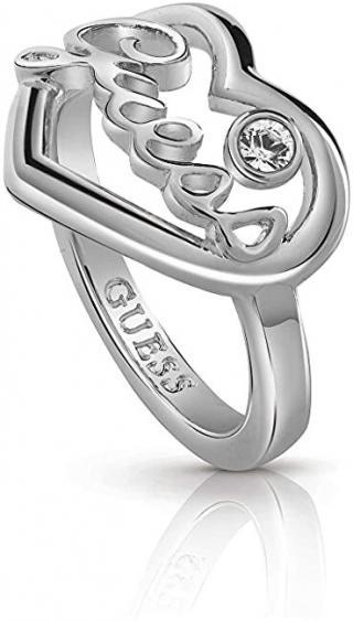 Guess Romantický prsteň s kryštálmi srdca UBR85048 50 mm dámské