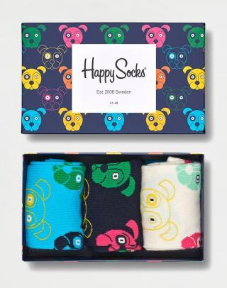 Happy Socks 3-Pack Mixed Dogs Gift Set XDOG08-0100 41-46 neuvedená 41-46