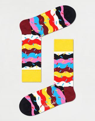 Happy Socks Birthday Cake Sprinkle Sock BCS01-0200 41-46 Pruhy 41-46