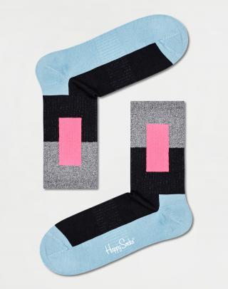 Happy Socks Blocked 3/4 Crew Sock ATBLO14-9300 41-46 Čierna 41-46