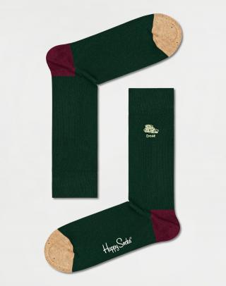 Happy Socks Embroidery Done Sock BEDO01-7500 41-46 Zelená 41-46