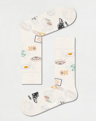 Happy Socks Good Times Sock GTI01-1300 41-46 Biela 41-46