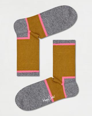Happy Socks Graphic 3/4 Crew Sock ATGRA14-7300 36-40 Žltá 36-40