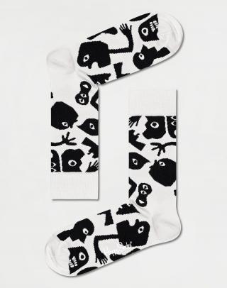 Happy Socks Nightmare Sock NGT01-9100 41-46 Biela 41-46
