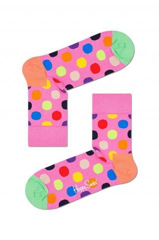 Happy Socks - Ponožky Big Dot Half Crew dámské ružová 41/46