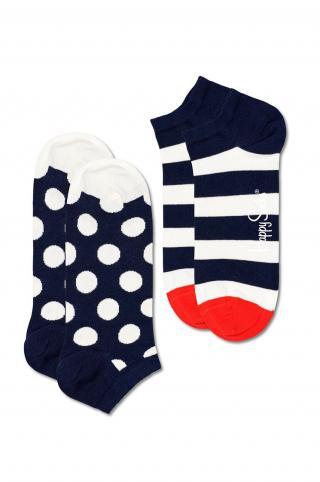 Happy Socks - Ponožky Big Dot Stripe Low  dámské biela 36/40