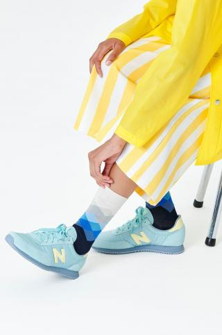 Happy Socks - Ponožky Faded Diamond dámské biela 36/40