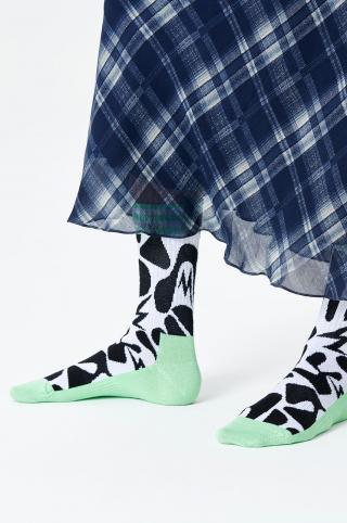 Happy Socks - Ponožky Jumble Thin Crew dámské biela 36/40