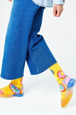 Happy Socks - Ponožky Jumbo Donut dámské žltá 36/40