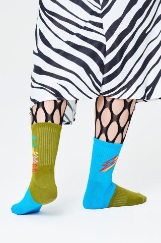 Happy Socks - Ponožky Mix Match 3/4 Crew dámské zelená 36/40