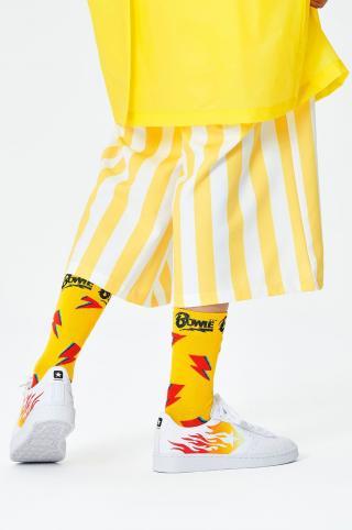 Happy Socks - Ponožky x David Bowie Flashy Bowie dámské žltá 36/40