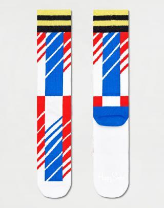 Happy Socks Scattered Stripe Crew Sock ATSCS27-1300 36-40 Modrá 36-40