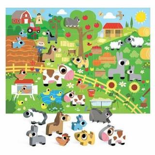 Headu Puzzle Farma s 8 drevenými vkladacímifigúrkami