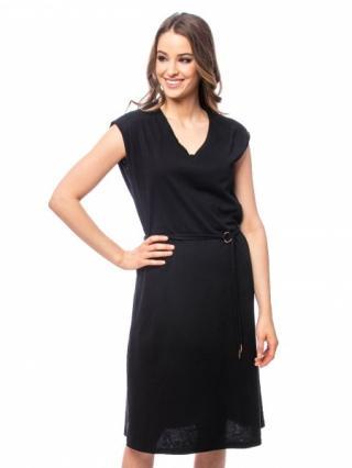 Heavy Tools Dámske šaty Viene black E9S20290BL S dámské