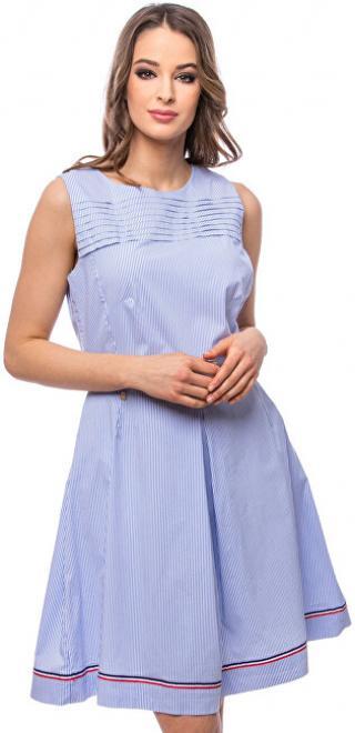 Heavy Tools Dámske šaty Vonbi light blue E9S20196LB M dámské