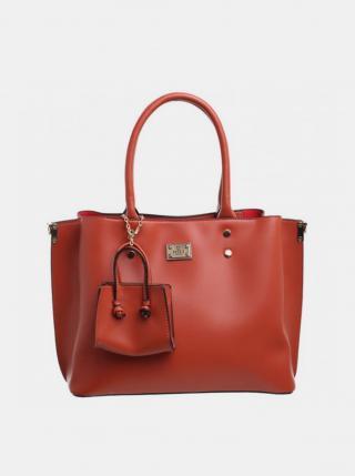 Hnedá kabelka s malým púzdrom Bessie London dámské