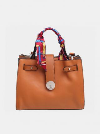 Hnedá kabelka s ozdobnou šatkou Bessie London dámské