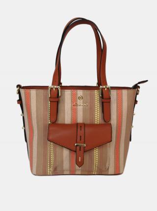 Hnedá pruhovaná kabelka Gionni dámské