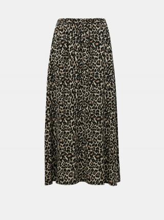 Hnedá vzorovaná maxi sukňa VERO MODA Simply dámské S