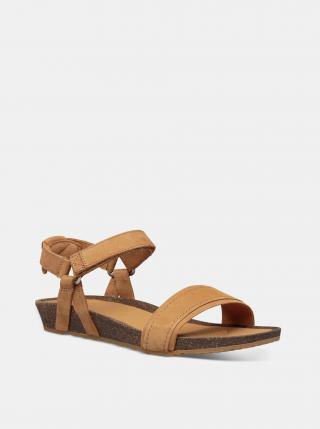 Hnedé dámske kožené sandále Teva dámské hnedá 38