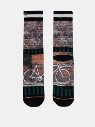 Hnedé pánske vzorované ponožky XPOOOS pánské hnedá 39-42
