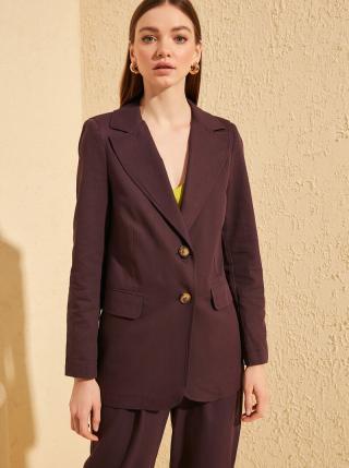 Hnedé sako Trendyol dámské fialová L
