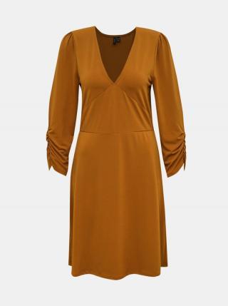 Hnedé šaty VERO MODA Alberta dámské hnedá M