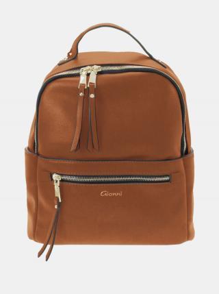 Hnedý batoh Gionni dámské hnedá