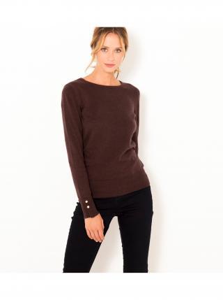 Hnedý sveter s prímesou vlny CAMAIEU dámské hnedá L
