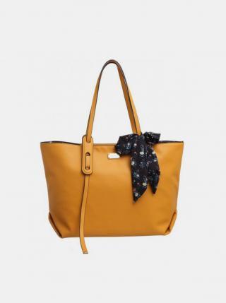 Horčicová kabelka s púzdrom a ozdobnou šatkou Bessie London dámské