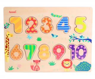 Hra typu puzzle 10 dielov Numbers Pestrofarebná