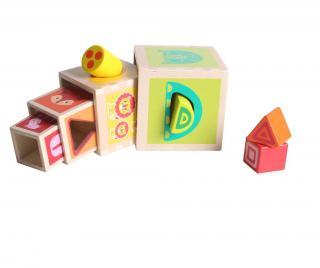 Hra typu puzzle 8 dielov Animal Box Pestrofarebná