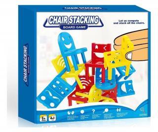 Hra zručností Chair Stacking Pestrofarebná