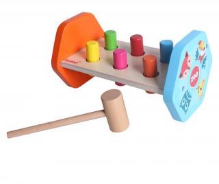 Hračka zručností s kladivkom Multi Pestrofarebná