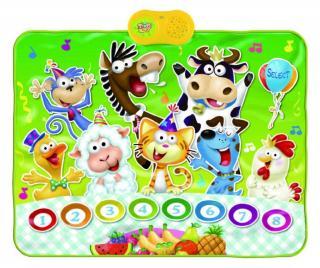 Hudobný koberček s aktivitami Animals Party 69x90 cm Pestrofarebná 69x90 cm