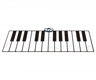 Hudobný koberček s aktivitami Gigantic Keyboard 74x180 cm 74x180 cm