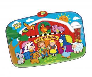 Hudobný koberček s aktivitami Happy Farm 72x95 cm Pestrofarebná 72x95 cm