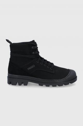 Hugo - Členkové topánky pánské čierna 40