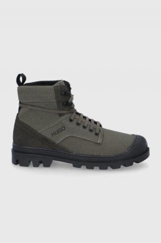 Hugo - Členkové topánky pánské zelená 40