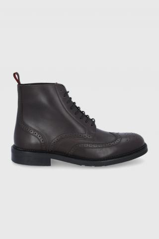 Hugo - Kožené topánky pánské hnedá 40