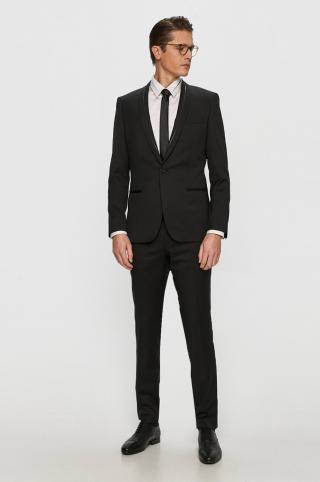 Hugo - Oblek pánské čierna 48