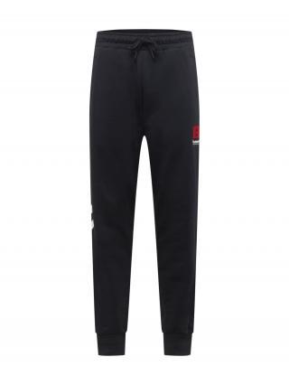 Hummel Športové nohavice Graham  čierna / červená / biela pánské S