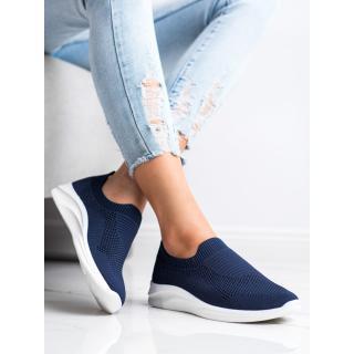 IDEAL SHOES NAVY SPORTS SLIPONS dámské shades of blue 36